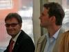 Hoher Besuch von Baufirma Sachs und Klee: Geschäftsführer Andreas Burger (l.).