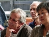 Team Forsthausstraße: Assistentin Uschi Peter, Bürgermann Jochen Blecher, Weyer (v. rechts).