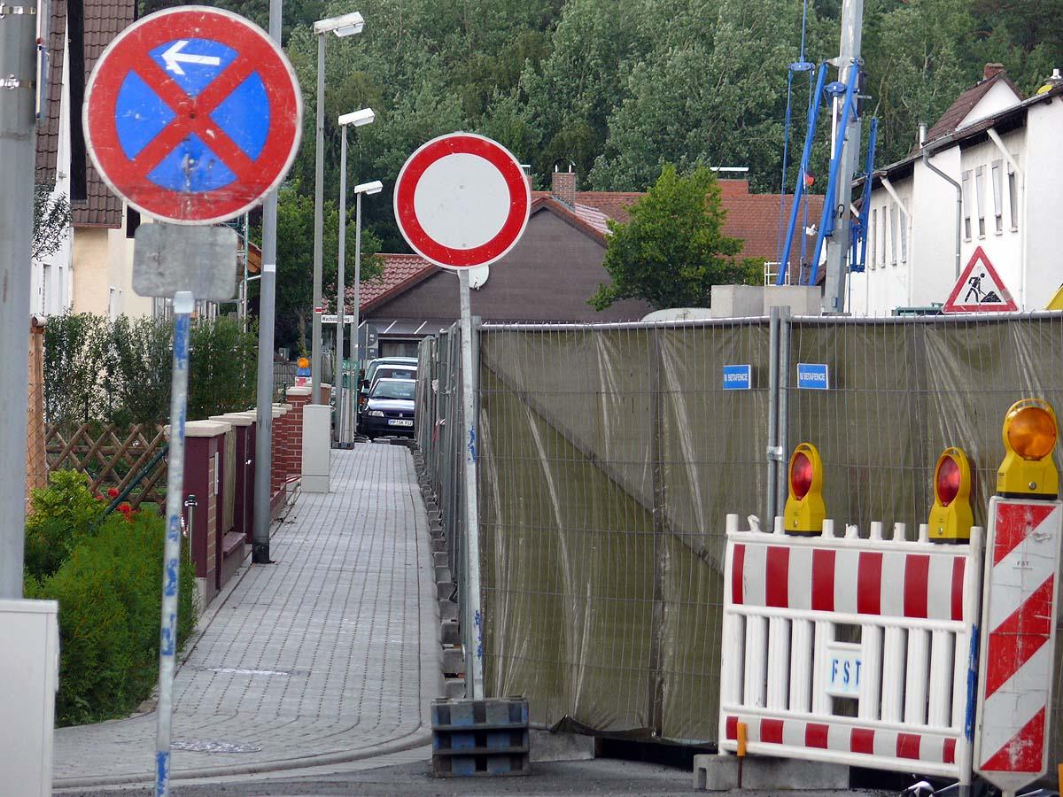 Lindenweg teilweise offen