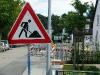 """""""Baustelle"""" warnt ein Schild auch im Buchenweg."""