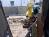 Man kann über die Bauzäune schauen und die Sanierung verfolgen.
