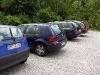 Der Ausweichparkplatz im Buchenweg.