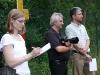 Dabei die Presse: Claudia Kölbl (SHM), Hans-Karl Asel und Oliver Lohmann (beide LZ).