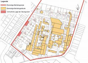 Die Lage der früheren chemischen Fabrik (Grafik: CDM Smith).