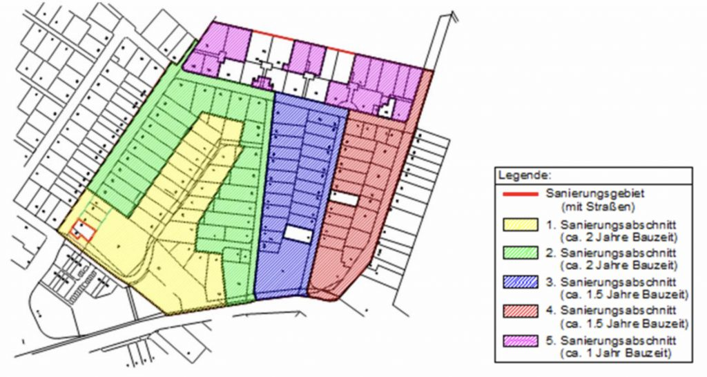 Die Sanierungsabschnitte (Grafik: CDM Smith)